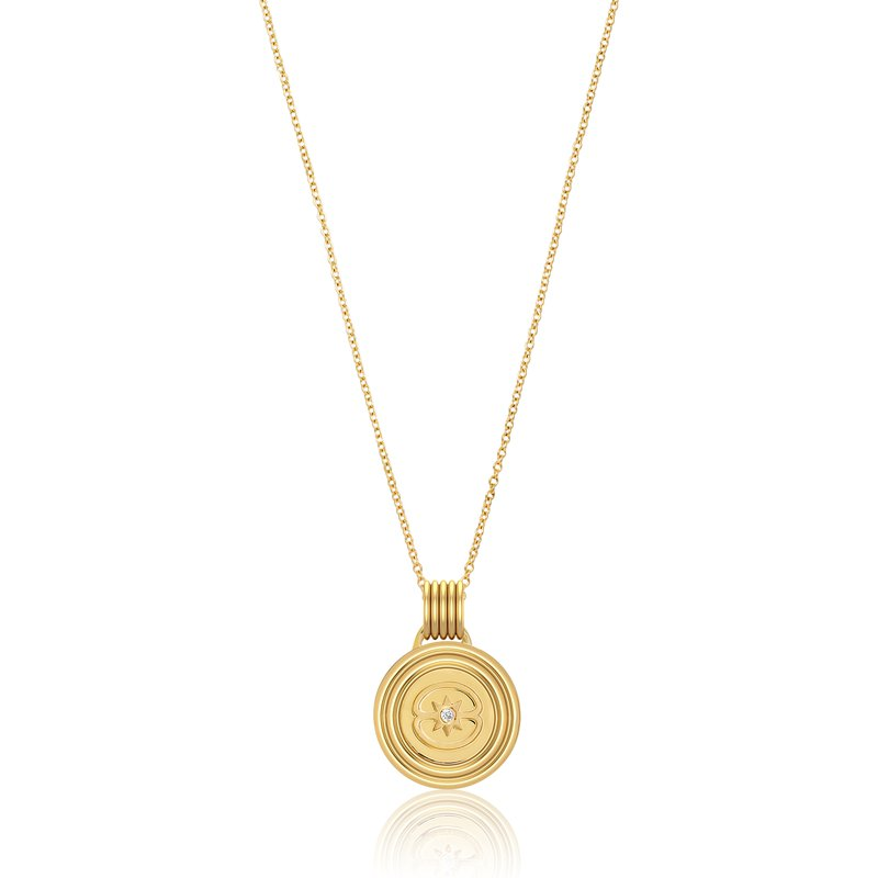 "Almasika Medallion Necklace Length 18"""