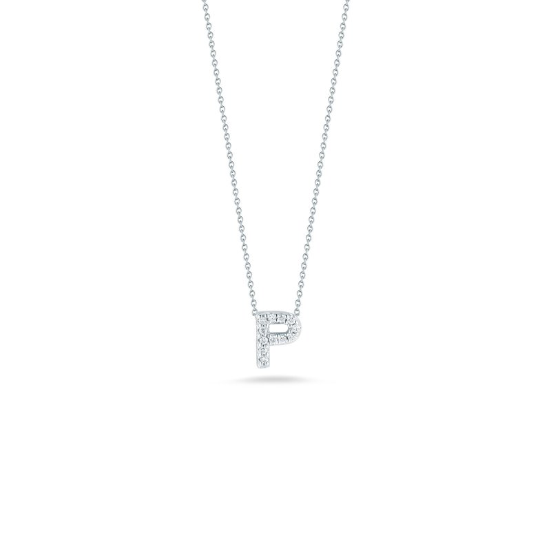 """Roberto Coin Love Letter P Necklace Length 16"""" adjustable to 18"""""""
