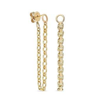 Belcher Chain Single Hoop Earring
