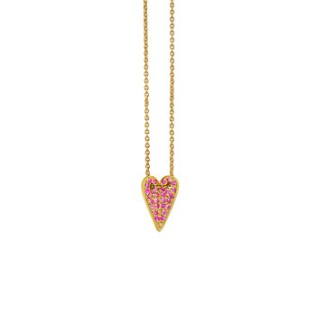 """Heart Pendant Necklace Length 16.5"""" with a loop at 16"""""""