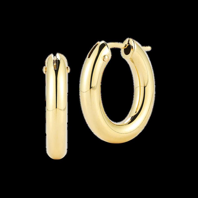Roberto Coin Oval Hoop Earrings
