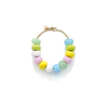 """Candy Glass Beads Bracelet 7"""" Length"""