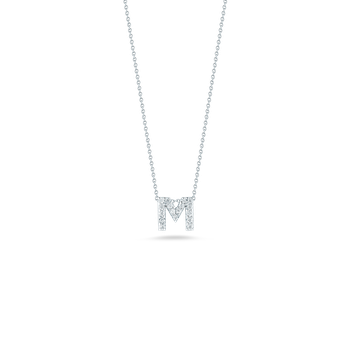 "Love Letter M Necklace Length 16"" adjustable to 18"""