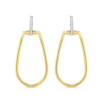 Oblong Stirrup Earrings