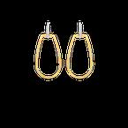 Roberto Coin Oblong Stirrup Earrings