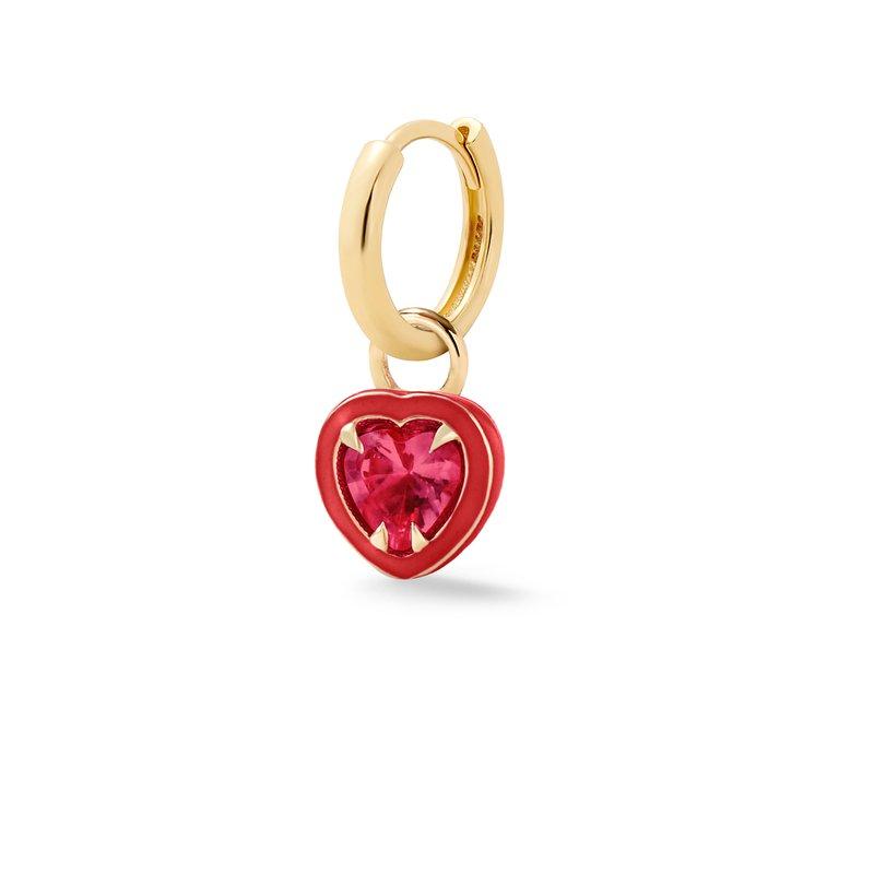 Alison Lou Heart-Shaped Single Huggie Earring