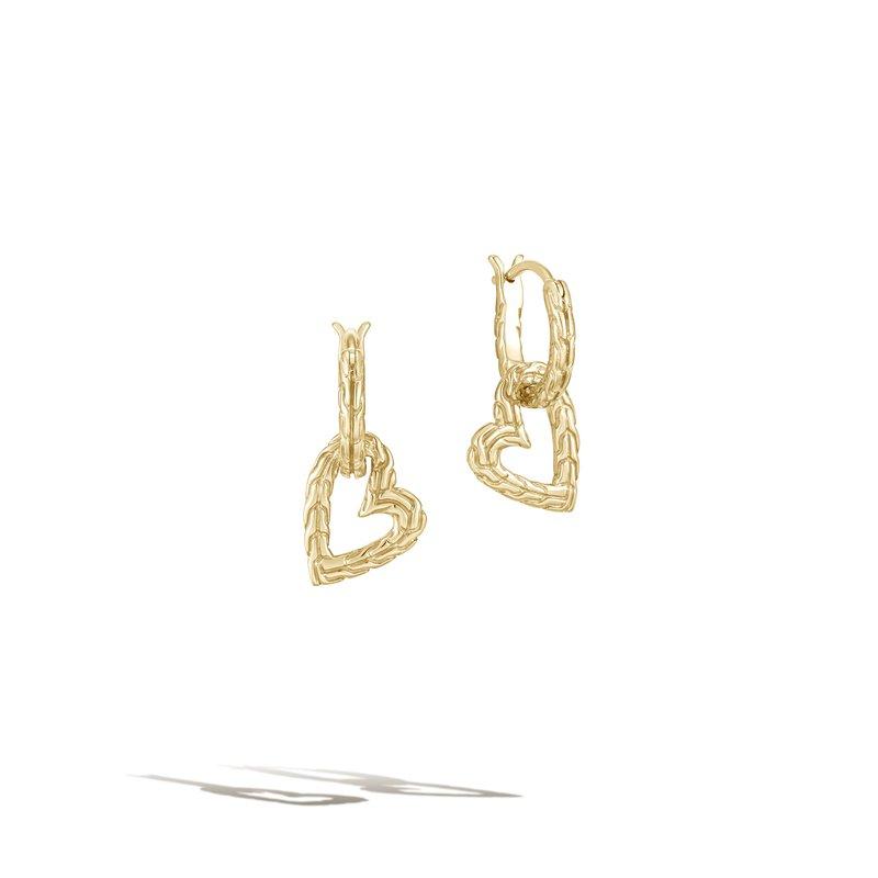 John Hardy Heart Drop Earrings