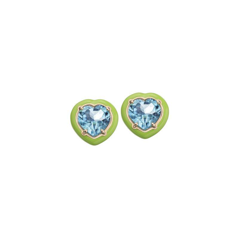 Bea Bongiasca Heart Stud Earrings