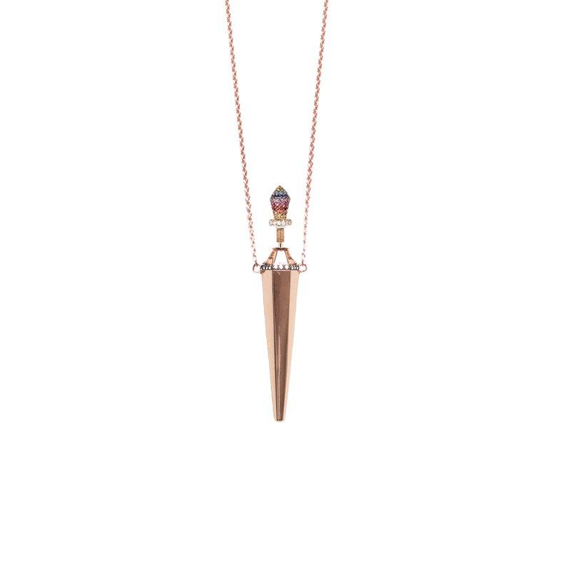 Diane Kordas Jewellery Rainbow Bottle Necklace