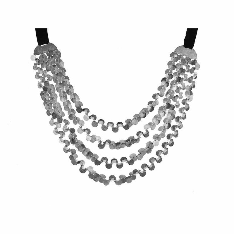 Majoral Three Row Bib Necklace