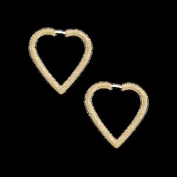 Heart Hoop Earrings Size Large