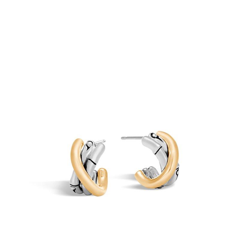John Hardy Small Hoop Earrings Length 17mm