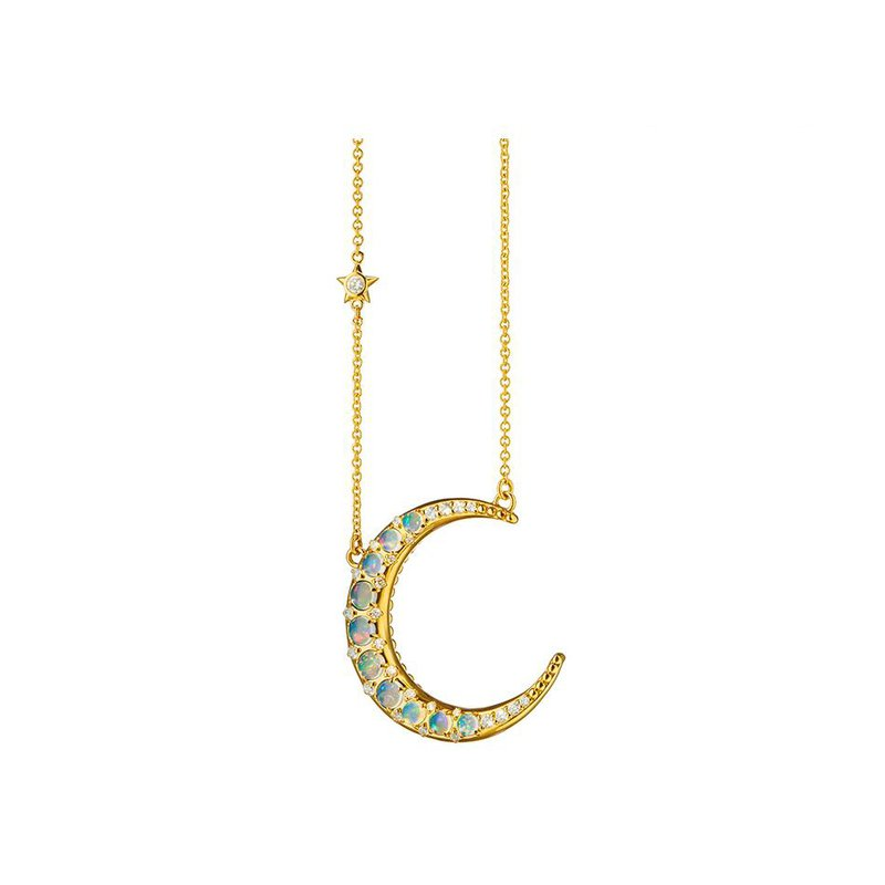 Monica Rich Kosann Moon Necklace