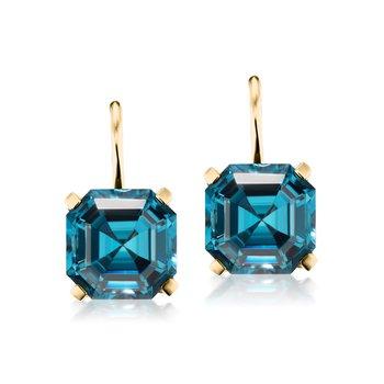 Octagonal Drop Earrings