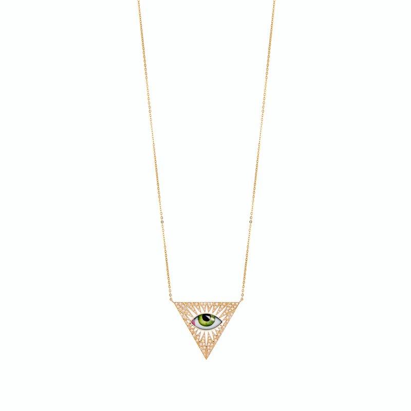 "Lito Karakostanoglou Eye Necklace 22""  Length"