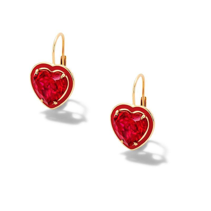 Alison Lou Heart Shape Drop Earrings