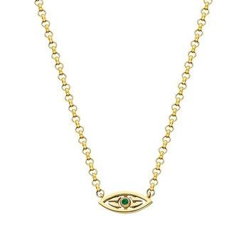 "Caribbean Mini  Eye Necklace 16"" adjustable to 18"""