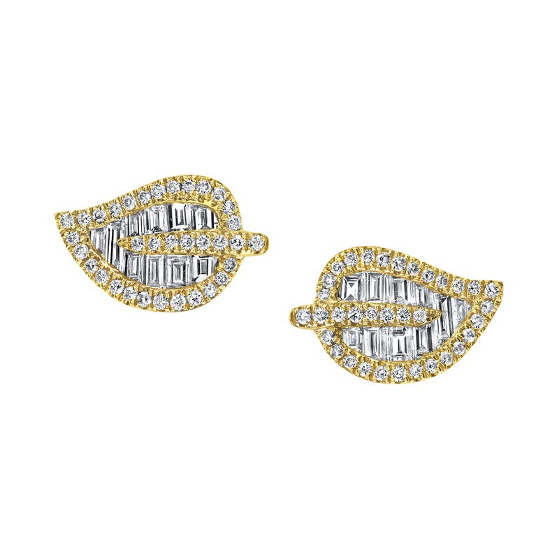 Anita Ko  Leaf Stud Earrings