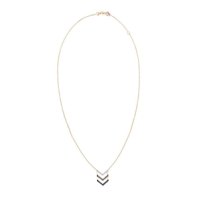 Kismet by Milka 3 Color Chevron Necklace