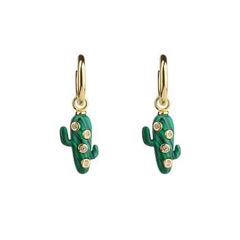 Large Cactus Hoop Earrings