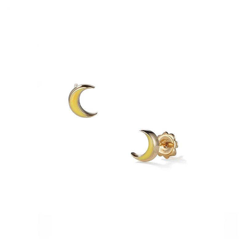Suel Crescent Moon Stud Earrings