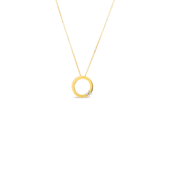 Fower Pendant Necklace Length 17' Adjustable