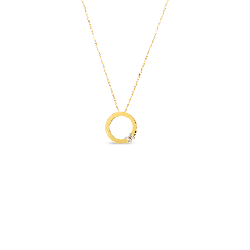 Roberto Coin Fower Pendant Necklace Length 17' Adjustable