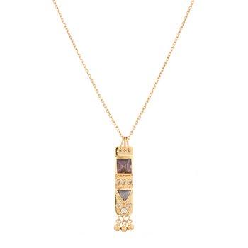 "Medium Totem Plate Necklace Length 16"""