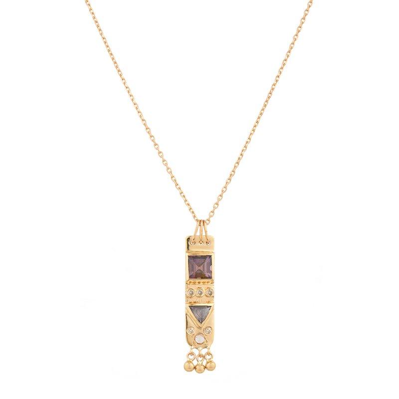"Celine Daoust  Medium Totem Plate Necklace Length 16"""