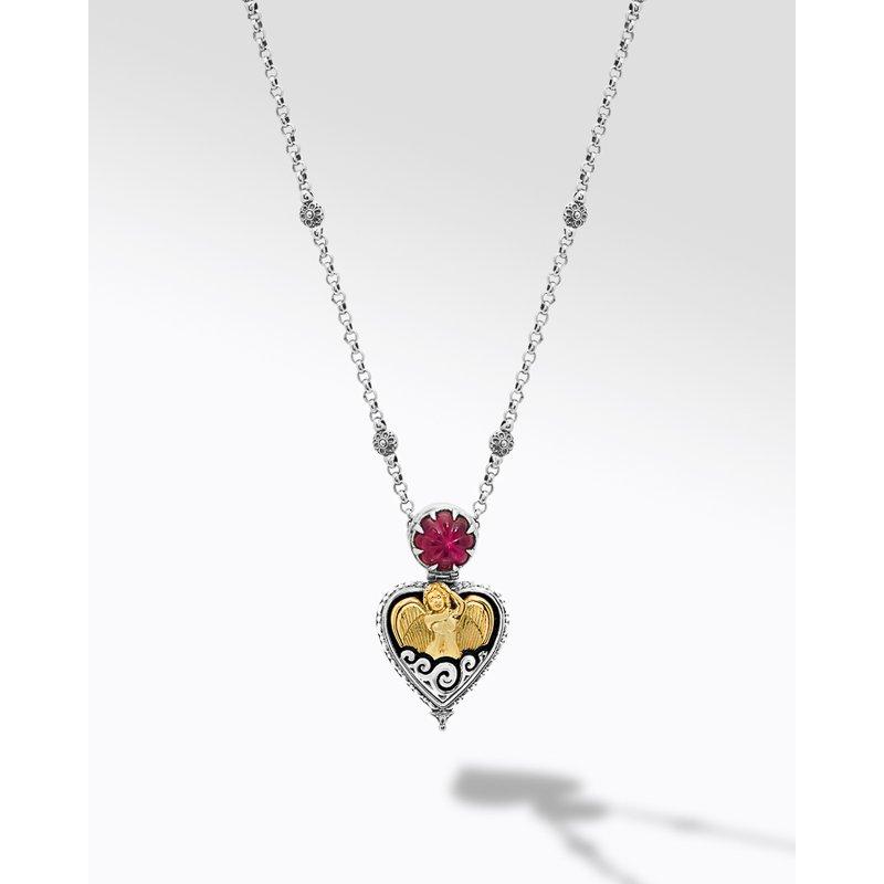 "Konstantino Guardian Angel Necklace Length 18"""