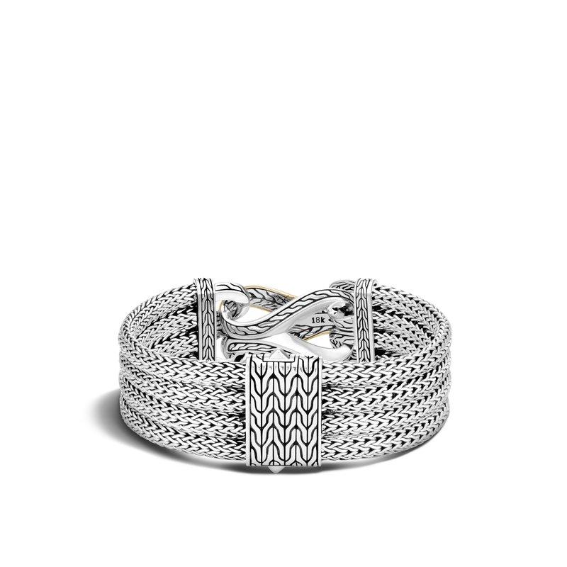 John Hardy Multi Row Bracelet Size Small Wide 20mm