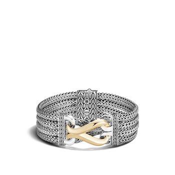 Multi Row Bracelet Size Small Wide 20mm