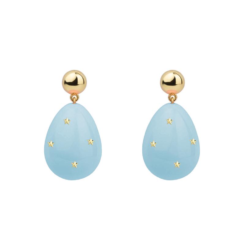 Eshvi Mini Drop Stars Earrings