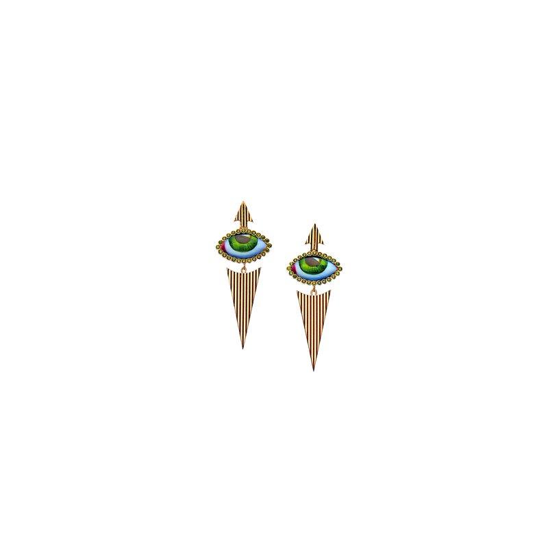 Lito Karakostanoglou Eye Earrings