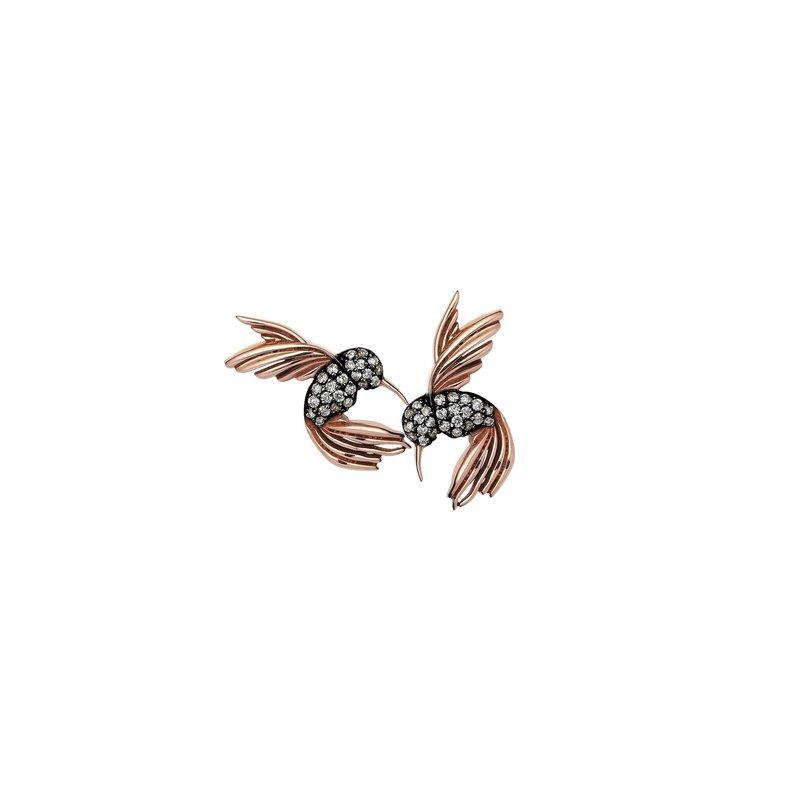 Kismet by Milka Double Midi Hummingbird Single Stud Earring