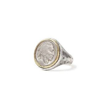 Indian Head 21mm Coin Ring Size 10