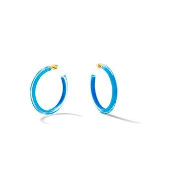 Neon Medium Jelly Hoop Earrings