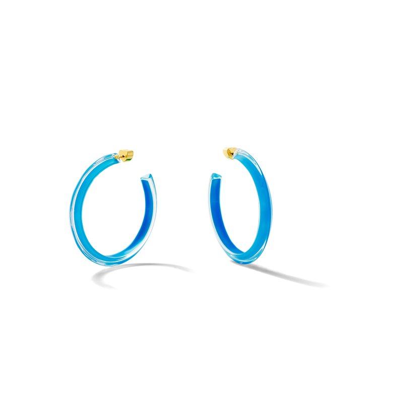 Alison Lou Neon Medium Jelly Hoop Earrings