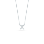 "Roberto Coin Love Letter X Necklace Length 16"" adjustable to 18"""