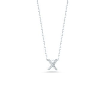 "Love Letter X Necklace Length 16"" adjustable to 18"""