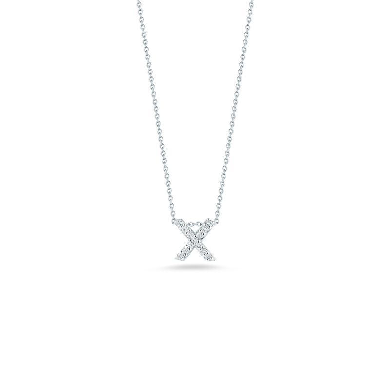 """Roberto Coin Love Letter X Necklace Length 16"""" adjustable to 18"""""""