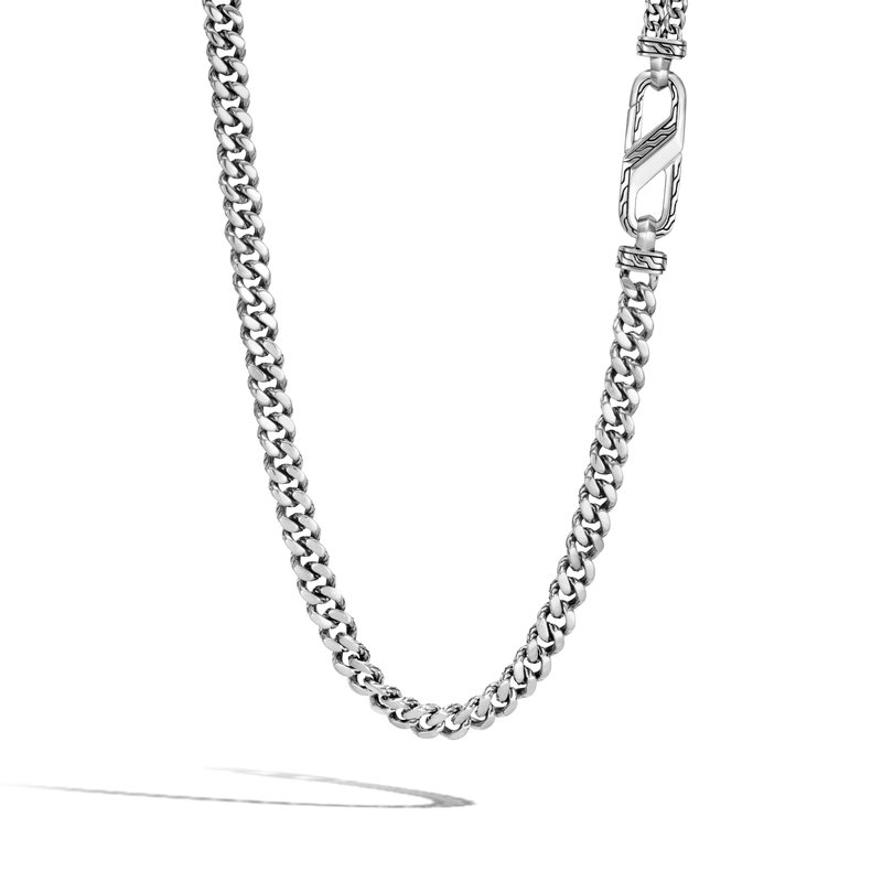 """John Hardy Curb Link Necklace Length 22"""" Wide 7mm"""
