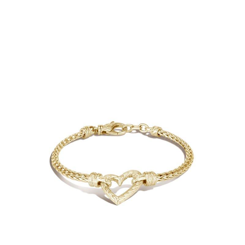 John Hardy Slim Chain Heart Bracelet Size Medium