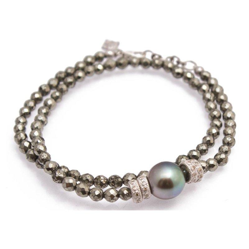 """Armenta Double Wrap Bracelet Lenght 14"""""""