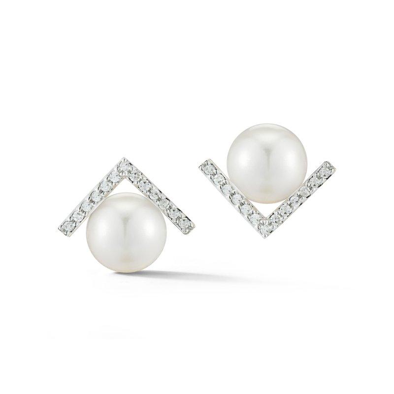 Mateo New York Pearl Stud Earrings