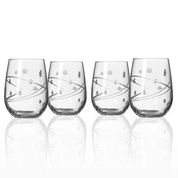 Stemless Wine Glass Set Of Four