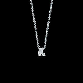 "Love Letter K Necklace Length 16"" adjustable to 18"""