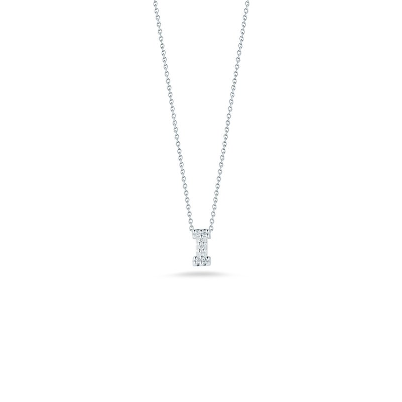 """Roberto Coin Love Letter I Necklace Length 16"""" adjustable to 18"""""""