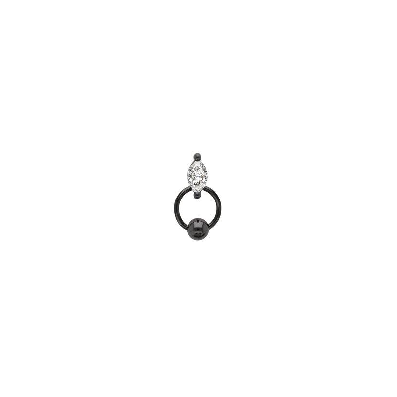 Delfina Delettrez Single Marquise Piercing Earring