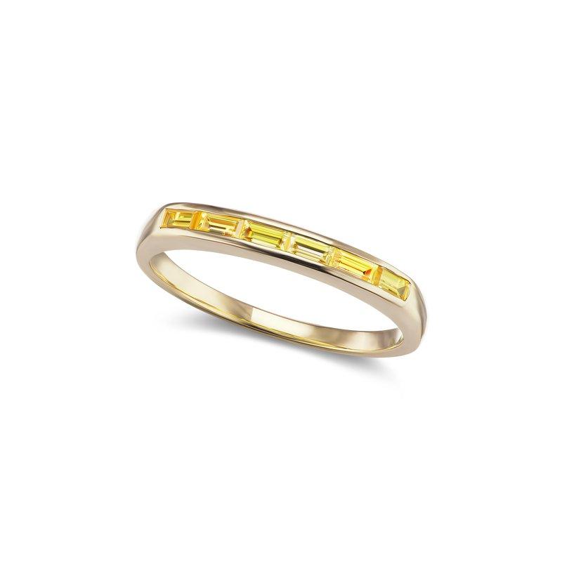 Jane Taylor Slim Baguette Stacker Ring 6.75